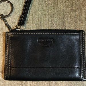 Coach keychain card holder